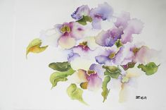 """Contemporary Painting - """"Thunbergia In Abstractia"""" (Original Art from Zenobia Campbell-James)"""