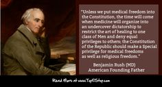 BENJAMIN RUSH - Medical Freedom. Should government be able to mandate vaccines?! #Blastwellness