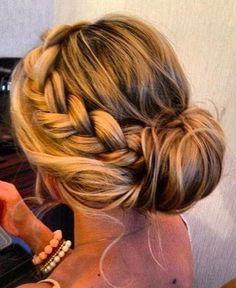 hair style for medium hair. Bridesmaid hair?