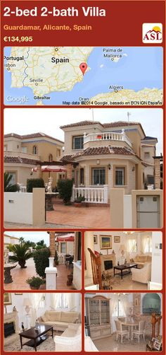 2-bed 2-bath Villa in Guardamar, Alicante, Spain ►€134,995 #PropertyForSaleInSpain
