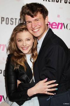 Ansel Elgort from Carrie with Carrie herself