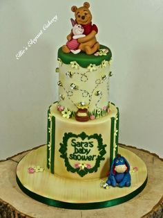 Winnie the pooh and Piglet baby shower :) by Ellie @ Ellie's Elegant Cakery