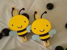 Bumble Bee Clothespins-Set of 12. $19.50, via Etsy.