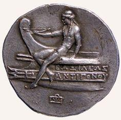 Tetradrachm (four drachma coin) showing Antigonus Doson circa 227 BC Silver Paris, BNF, Cabinet des Médailles