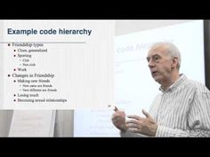 This video examines some of the issues related to constructing and developing a code list or coding frame. This list can be organised into a coding hierarchy. Social Work Research, Presentation Pictures, Dissertation Writing, In Vivo, Research Methods, Criminology, Make New Friends, Thesis, Fun Facts