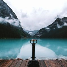 Classic view of Lake Louise on a rainy day last year. I'm still fascinated by the beauty of this county - can't wait to go back there!