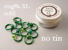 ringOs XL REFILL - Evergreen - accroc-libre Ring Stitch marqueurs pour tricot