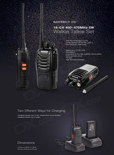 BAOFENG BF-888S 16-CH 400~470MHz 5W Walkie Talkie Set - Black   Silver   Multicolor (2PCS) - Free Shipping - DealExtreme