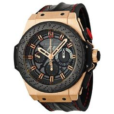 Hublot King Power Automatic Black Dial 18kt Rose Gold Mens Watch 703.OM.6912.HR.FMC12