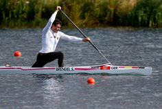 Sebastian Brendel of Germany competes in the Men's Canoe Single (C1) 1000m Sprint heats on Day 10 of the London 2012 Olympic Games at Eton Dorney on Aug. 6, 2012. Credit: Jamie Squire/Getty Images