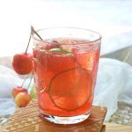 Warm summer days can only get better with this refreshing Cherry Lime Tequila Cocktail! This simple summertime drink recipe is made with fresh lime, tart cherry juice, tequila and 7UP. Perfect for entertaining or a day at the lake! Cocktail Menu, Cocktail Glass, Signature Cocktail, Cocktail Recipes, Drink Recipes, Margarita Recipes, Alcohol Recipes, Martini, Cheers