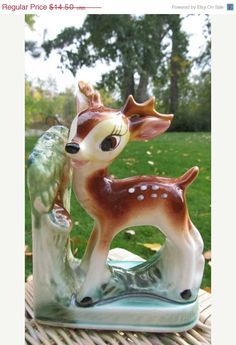 COLUMBUS DAY SALE --- Vintage Bambi Deer Bookend