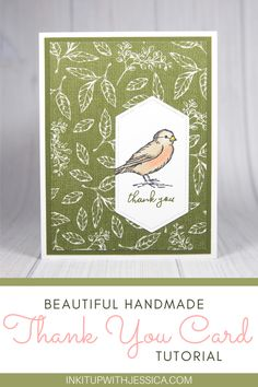 This easy bird thank you card was made with the Free as a Bird stamp set from Stampin' Up! Read on for tips on using the Stampin' Blends markers to color. Card Making Ideas For Beginners, Card Making Tips, Card Making Tutorials, Handmade Cards For Friends, Handmade Thank You Cards, Handmade Birthday Cards, Homemade Christmas Cards, Handmade Christmas, Card Making Templates