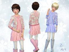 Snow Beauties by Zuckerschnute20 at TSR • Sims 4 Updates