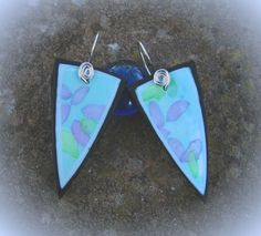 No2 of 52 Earrings in a Year  Pastel on Polymer