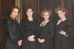 The shop girls in the Accessories department in Mr. Selfridge