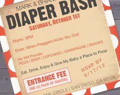 Printable Baby Shower Diaper Bash Invitation by SONNYAndCo on Etsy ...