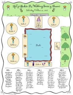 wedding reception floor plan template
