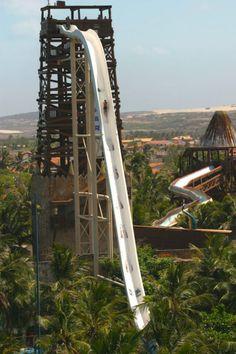World's tallest water slide.