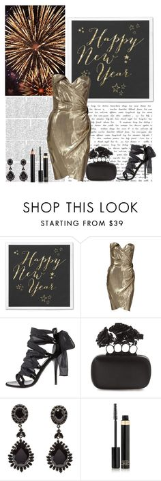 """Happy New Year to all my polyfriends!"" by chrissy6 ❤ liked on Polyvore featuring Thierry Mugler, Balmain, Alexander McQueen, Givenchy, Tom Ford and Clarins"
