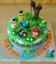 Angry Birds Cake... my boy would love this