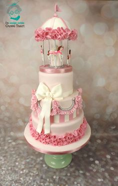 Carousel Cake Pink  on Cake Central