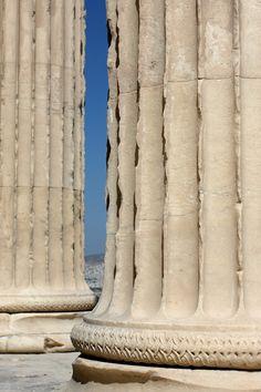 Doric columns, Parthenon, Athens