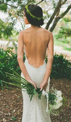 Robe de mariée dos nu, semi-nu et en dentelle – 64 designs magnifiques