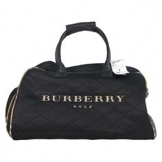 b3a5fd871 View this item and discover similar tote bags for sale at - New with tags,  Burberry golf, quilted nylon & leather tote bag with Nova plaid lining &  trim.