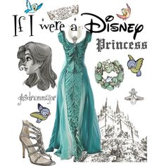 If I were a Disney Princess by ghsdrummajor on Polyvore featuring Jean-Michel Cazabat, Ben-Amun and Disney