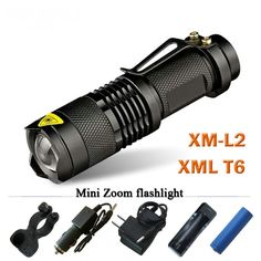 CREE XM L2 Mini Led waterproof Flashlight 3800 telescoping Lumens lanterna Torch Use 18650 rechargeable battery Tactical #Affiliate