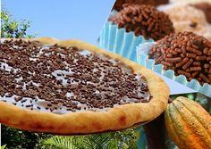 Fantastique dessert reprenant la friandise phare de Rio de Janeiro. Une pizza dessert garnie de cette fabuleuse préparation au chocolat surnommée truffe brésilienne et de la crème glacée.. Aucun doute, on la prépare et on la déguste en plateau TV devant les JO de RIO2016 et on se régale... #pizza #dessert #chocolat #Brésil #JO2016 #RIO2016