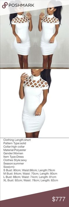 ✅JUST IN✅ The Gigi White Bandage Bodycon Dress New and direct from vendor. May or may not have tags. Please see pics, SZ chart and ask all questions prior to purchase as there are NO RETURNS!!!! 💰💰WILL BE $29 A Dream Come True Dresses Mini