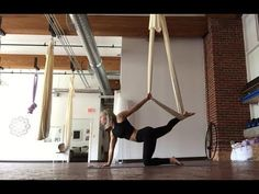 Aerial Yoga for Strong Arms | Aerial Yoga Sequences - YouTube