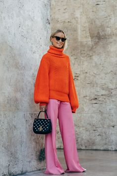 The Best Street Style Looks From Paris Fashion Week Spring 2019 - Fashionista Look Street Style, Street Style Looks, Looks Style, Street Style Women, Street Chic, Street Mall, Street Styles, Wide Leg Pants Street Style, Fashion Week