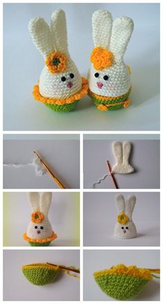 Crochet Toy Bunny Step-by-step Picture Tutorial – Amigurumi Free Pattern İdeas. Crochet Dolls Free Patterns, Doily Patterns, Crochet Deer, Crochet Baby, Crochet Top, Teddy Bear Knitting Pattern, Step By Step Crochet, Crochet Hat For Women, Easter Crochet