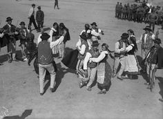Folk dance performed by gorali from near Nowy Sacz. 1936