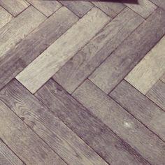 herringbone grey wood flooring. A thousand times yes!