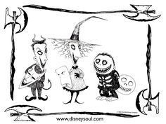 Nightmare Before Christmas coloring pages Coloring pages Pinterest U847h9Nx