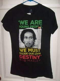 0e386b4c6eb BOB MARLEY WE ARE YOUNG DESTINY BLACK RASTA JR. LARGE FITTED T SHIRT  SPENCER S  SPENCERS  GraphicTee. NJChick s Closet · T SHIRTS