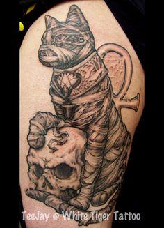 Egyptian Mummy Cat tattoo