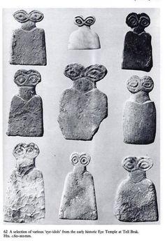 Unique Mysterious Figurines With Enormous Eyes (Eye Idols of Tell Brak) Ancient Egyptian Art, Ancient Aliens, Ancient History, Art History, European History, Ancient Greece, American History, Egyptian Mythology, Egyptian Goddess