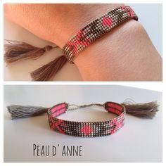 Petite manchette tissée de fines perles miyuki : Bracelet par peaud-anne
