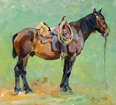 """Carl RUngius   """"Pack Horse""""  The Coeur d'Alene Art Auction"""