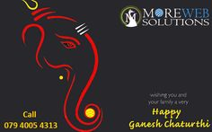 Moreweb Solutions Wishes you and your family Happy Ganesh Chaturthi!