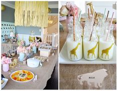 Vintage Pastel Wild Safari Birthday Party via Kara's Party Ideas   KarasPartyIdeas.com (25)