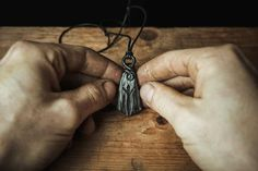 Primitive Hand Forged Energy Oath Ring and Viking Nail Pendant Amulet