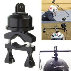 360 Rotating Swivel Helmet Self Shot Pole Mount Adapter For Gopro 3 3 Plus 4 Xiaomi Yi SJ4000 SJ5000 SJcam