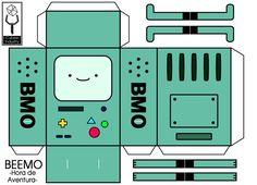 Resultado de imagem para papercraft hora de aventura 3d Paper Crafts, Paper Toys, Diy Paper, Diy And Crafts, Printable Box, Printables, Adventure Time Parties, Kawaii Diy, Paper Models