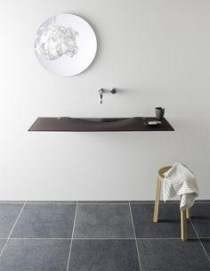Ultra Slim Glass Sinks - Onda OmniGlass Washplane By Omvivo